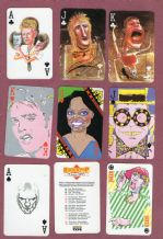 "Advertising playing cards courts. 1984 , Sony Tape ""Rock n Pop"""